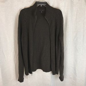 Banana Republic Full Zip Wool Blend Sweater L